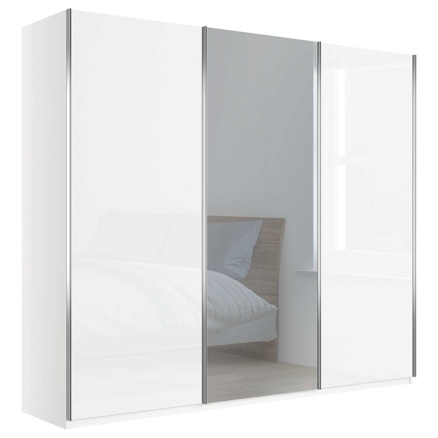 White Impact Plus Sliding Doors Smm9080wmc 64 1000y Wardrobe