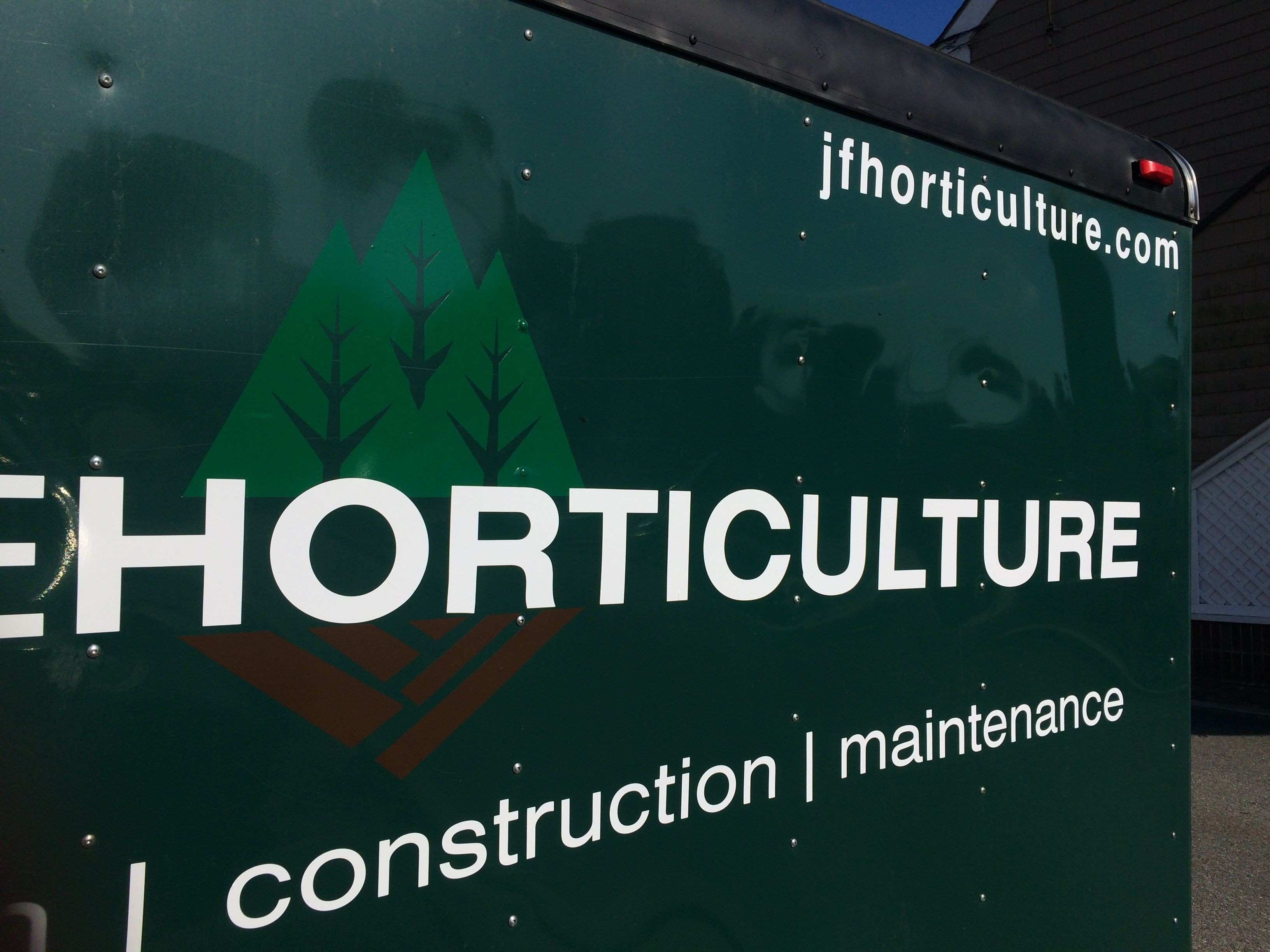 Trailer Decals designed and printed for J Fougere Horticulture in