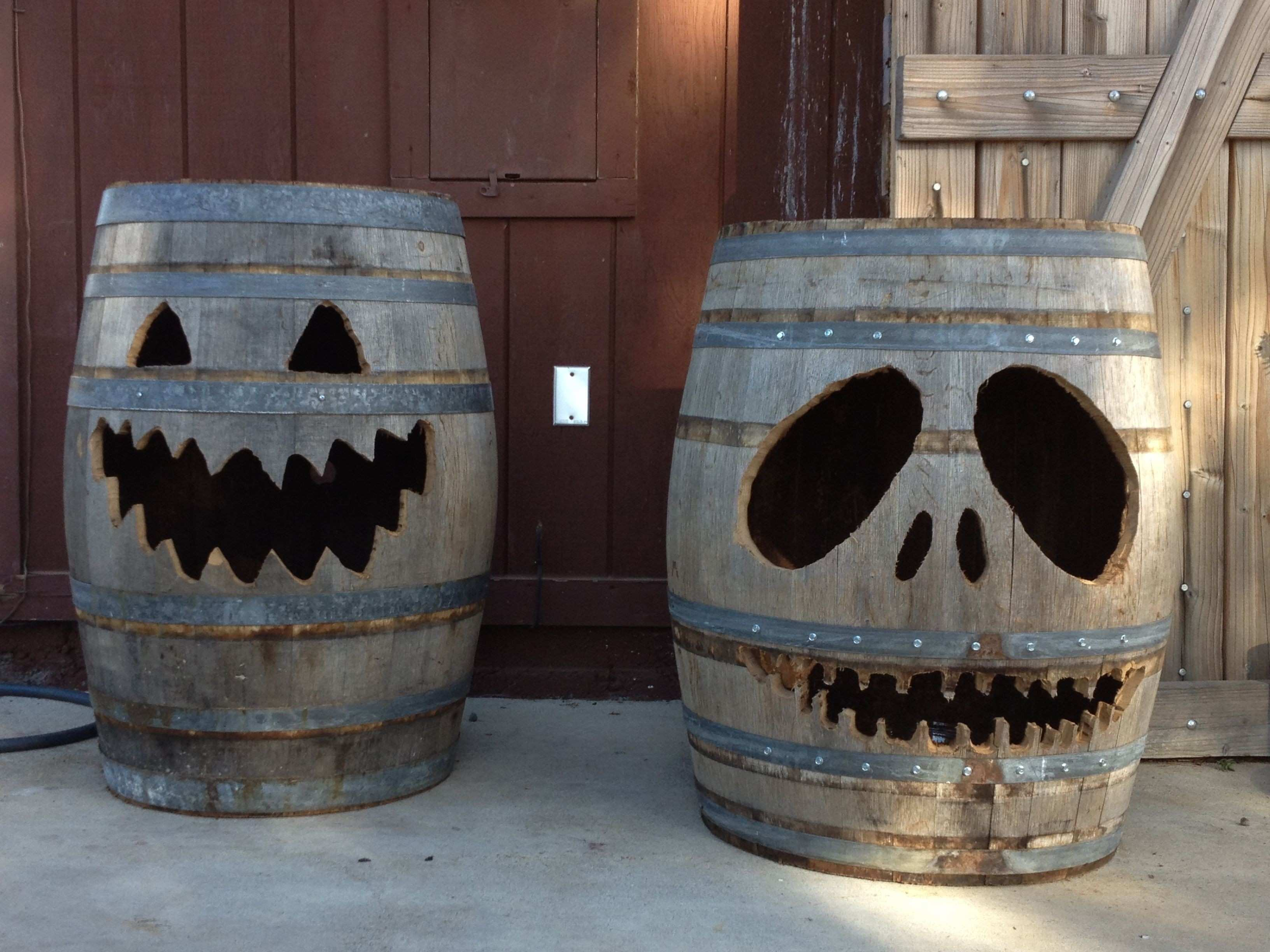 Wine Barrel Luminary with Moons and Stars home wine maker how
