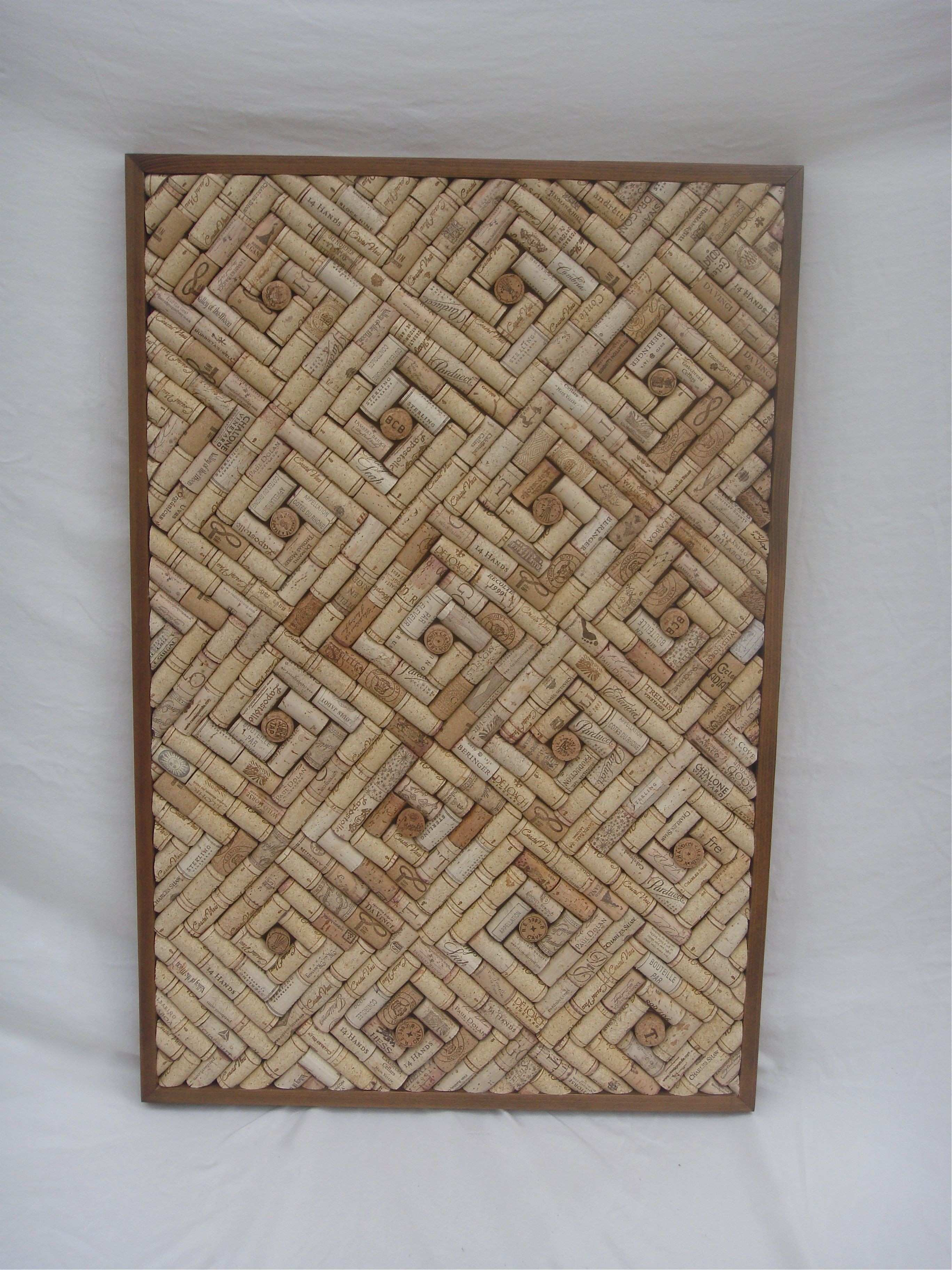 I make cork boards out of old wine corks Many sizes shapes and