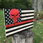 Wood American Flag Wall Art Inspirational American Flag Wood Flag Thin Red Line Flag Punisher Of Wood American Flag Wall Art