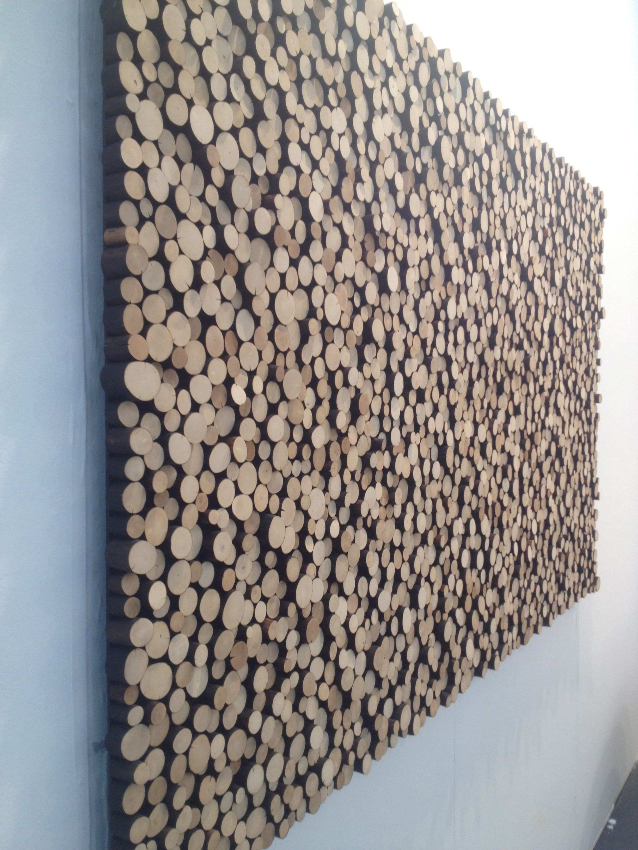 Interesting wall covering done by an artist at the Affordable Art