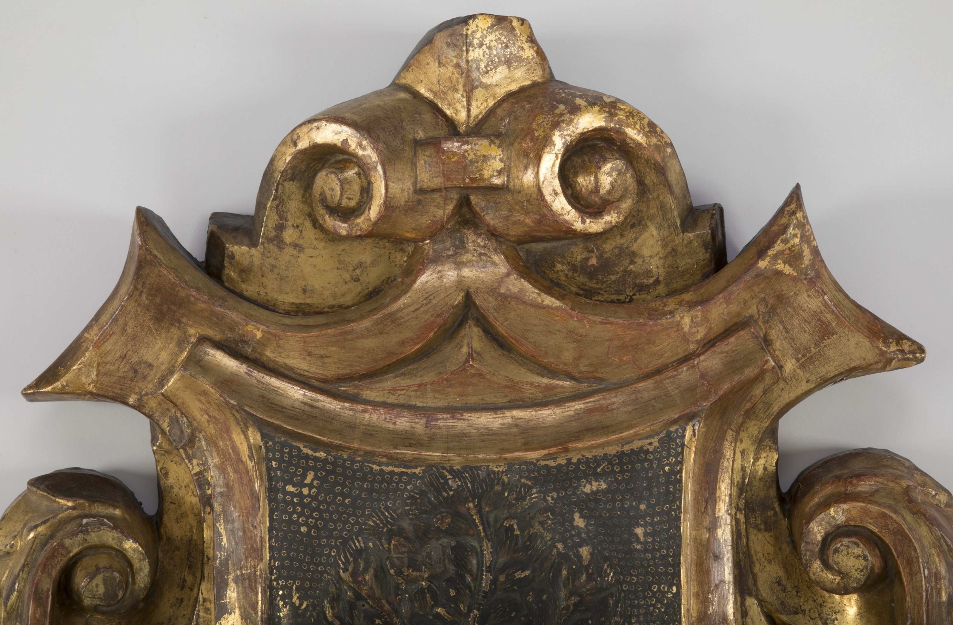 Elaborate Carved and Gilt Wood 18th Century Coat of Arms for the