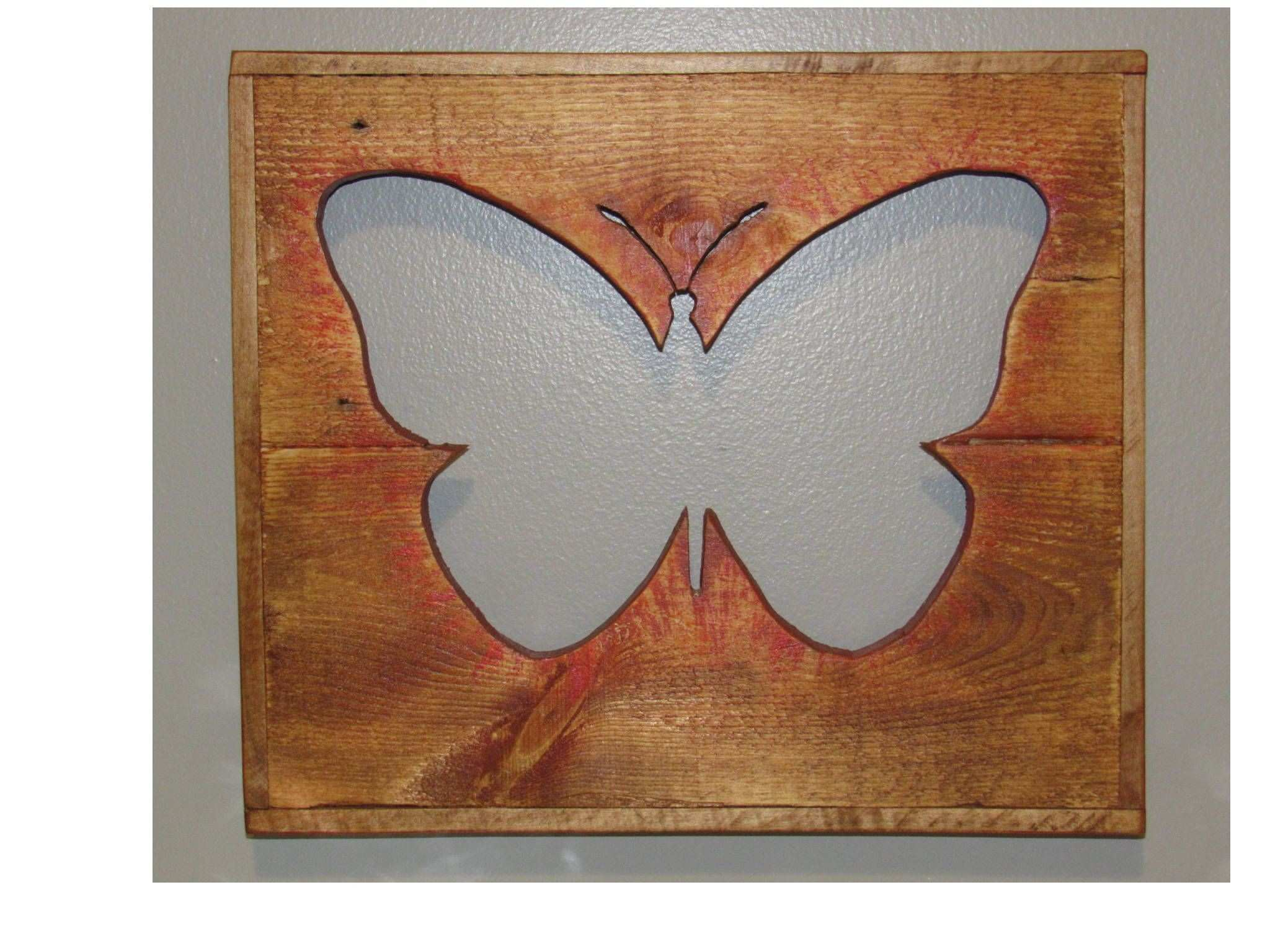 """Pallet Wood """"Butterfly"""" Cut Out Wall Decor by TheRenewedPallet on"""