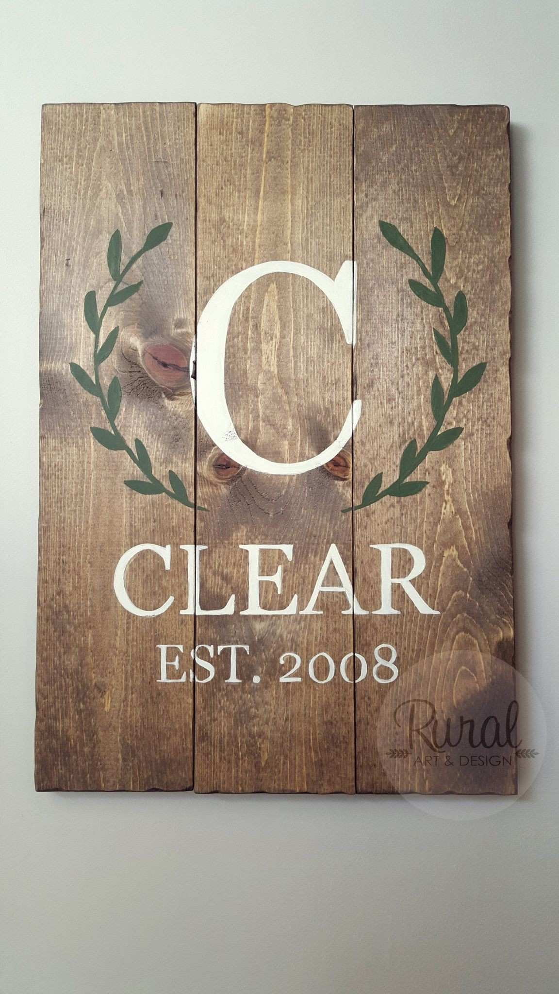Laurel Wreath Established Sign Pinterest