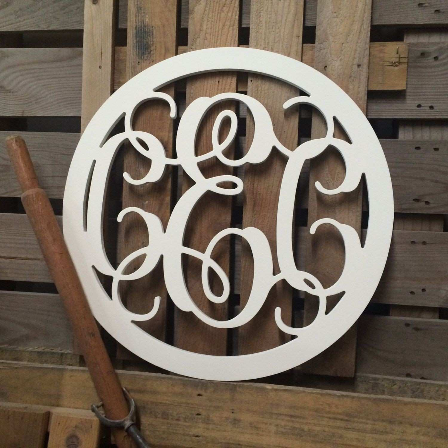 Monogram Circle Enclosed Wall Hanging Dorm Room