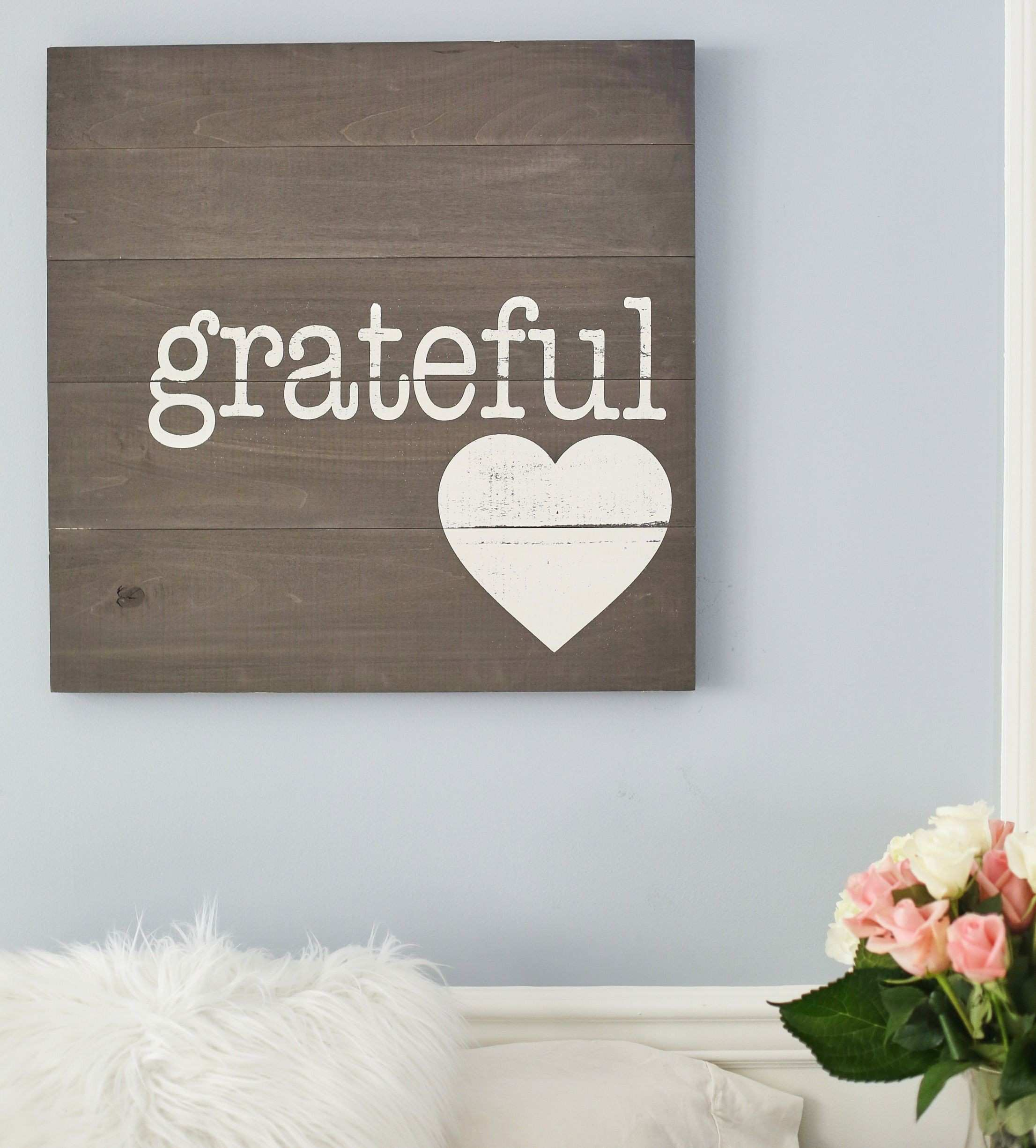 Altar d State Grateful Heart Sign I Rustic Wooden Sign I Pallet Sign