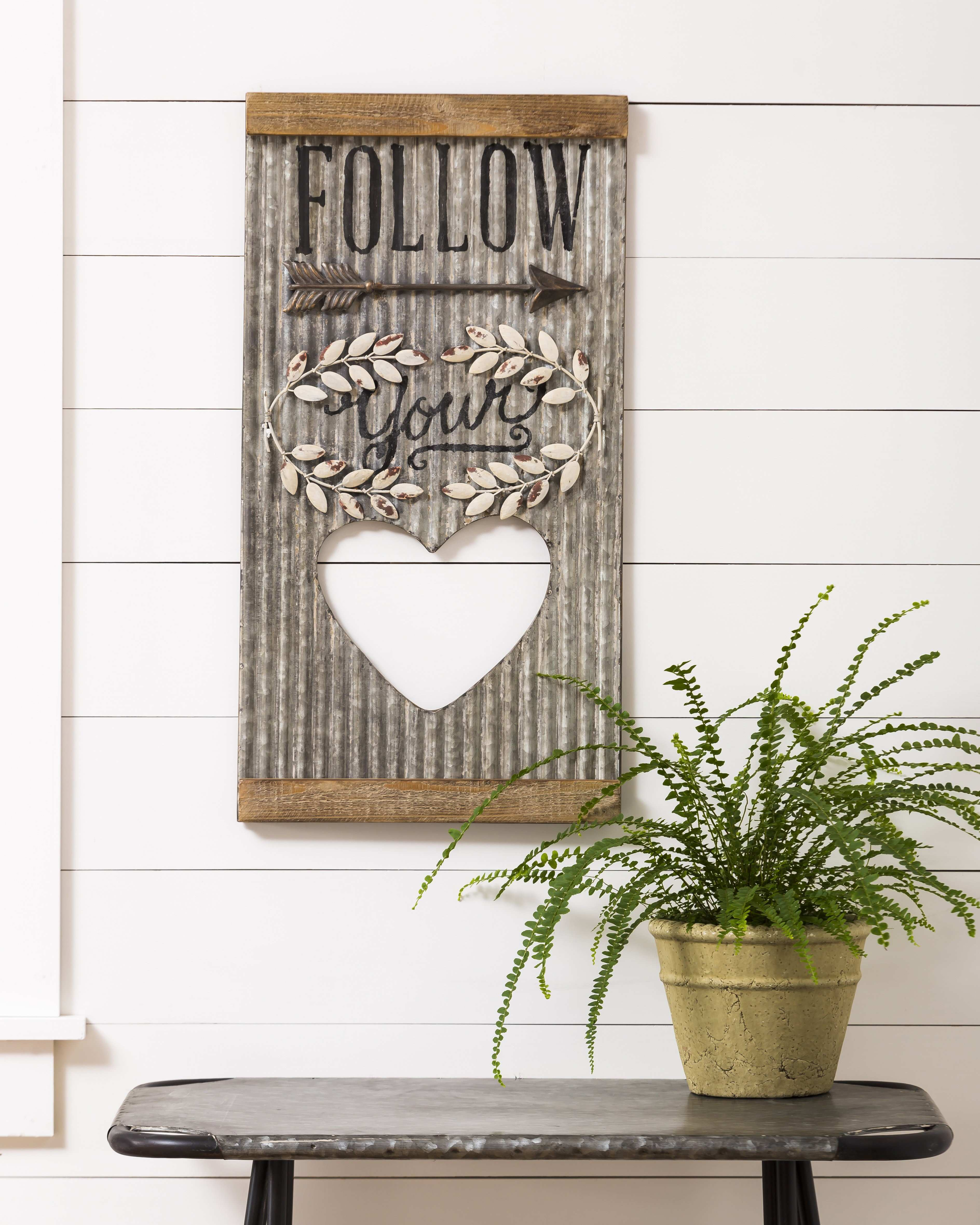 August Grove Corrugated Metal Wall Décor & Reviews