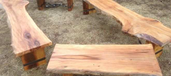 Wood Slab Furniture Unique Custom Made Slab Benches Tables and Benches Pinterest