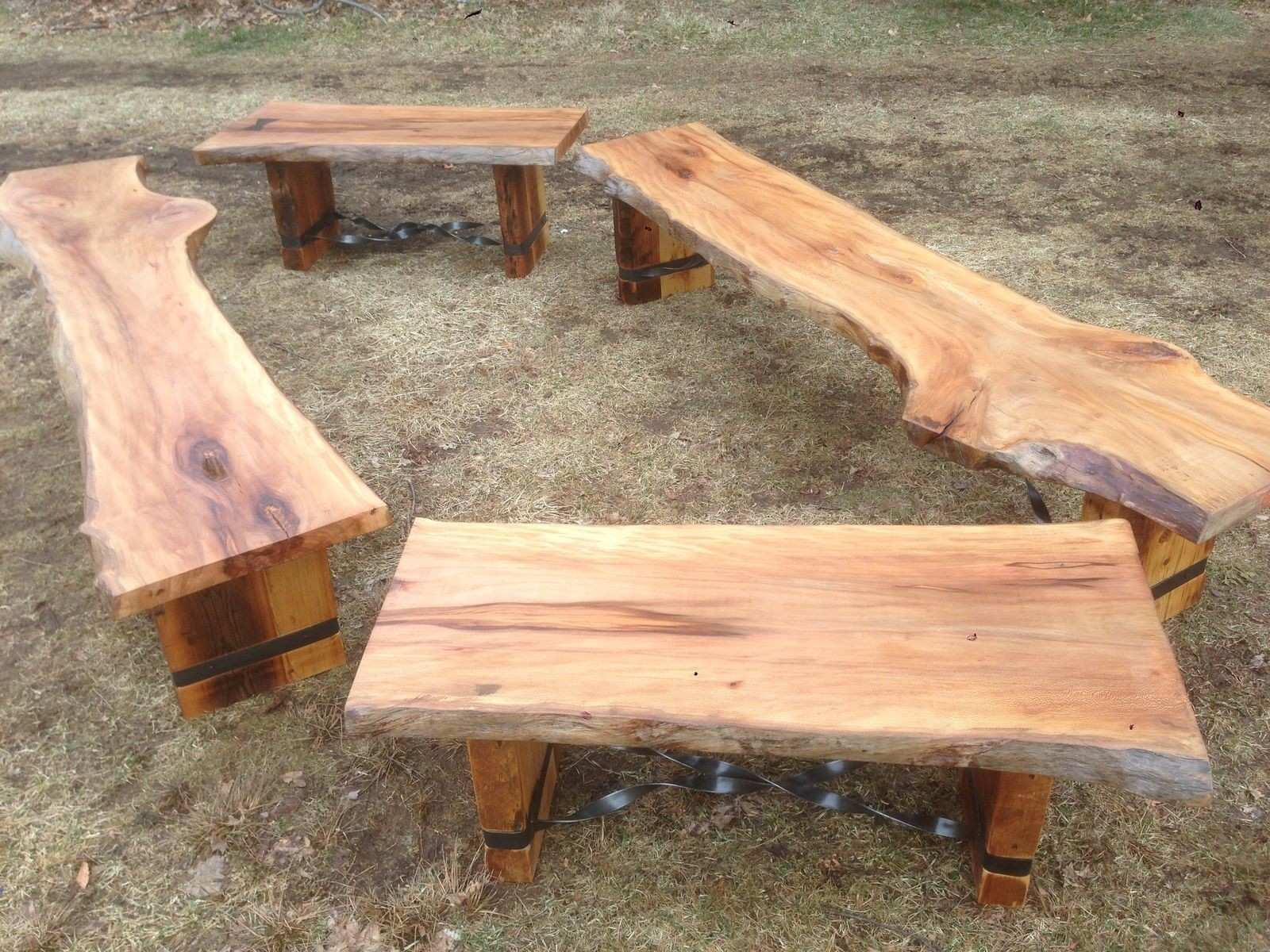 Custom Made Slab Benches tables and benches Pinterest