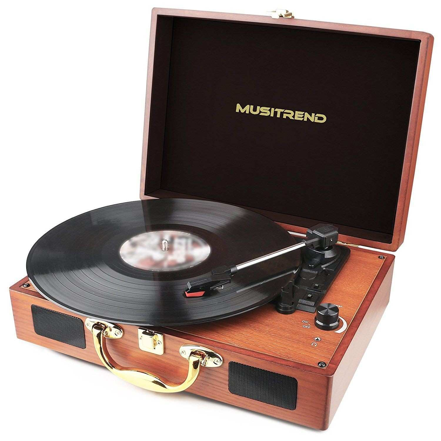Amazon Musitrend Turntable Portable Suitcase Record Player with