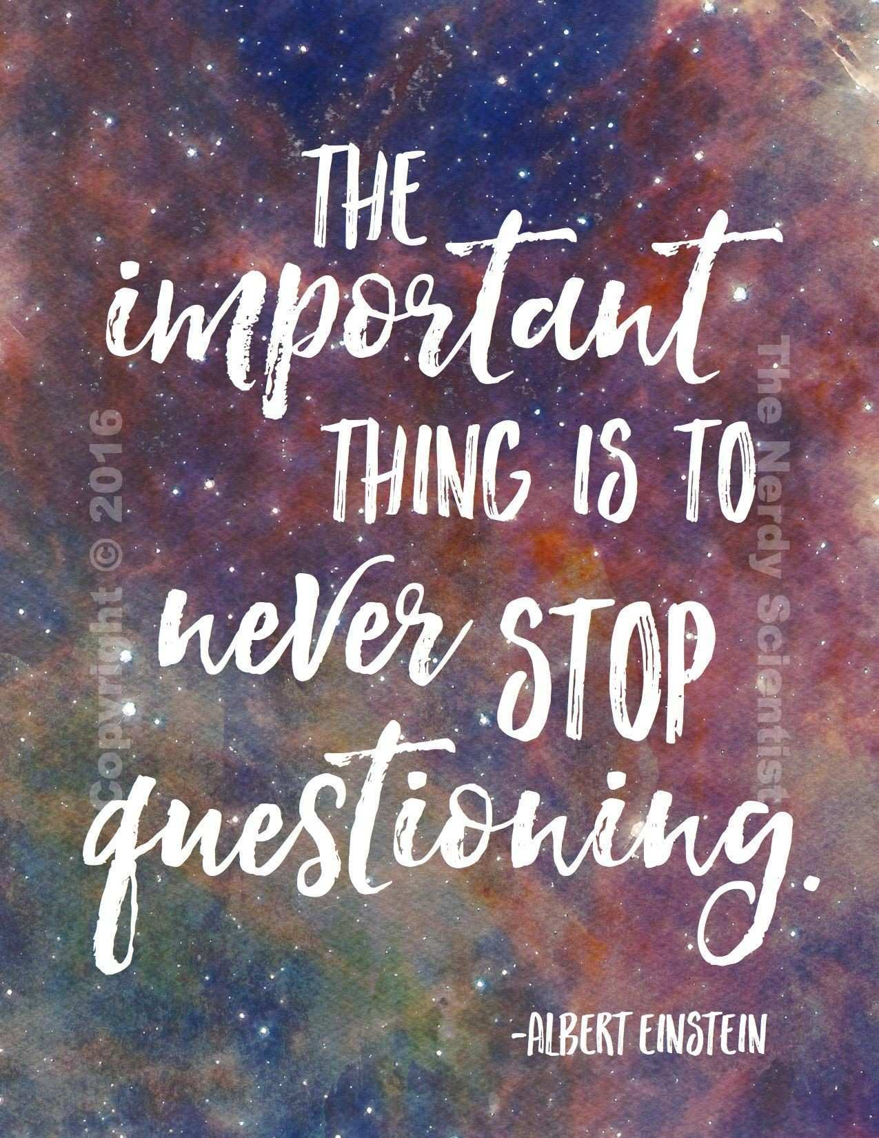 Science Quote Poster 3 Galaxy Background Pinterest