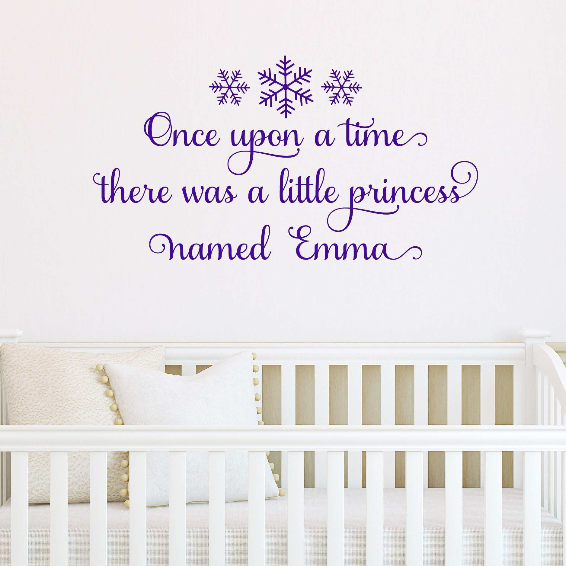 Sweet Frozen Inspired Snowflake Custom Princess Wall Quotes™ Decal