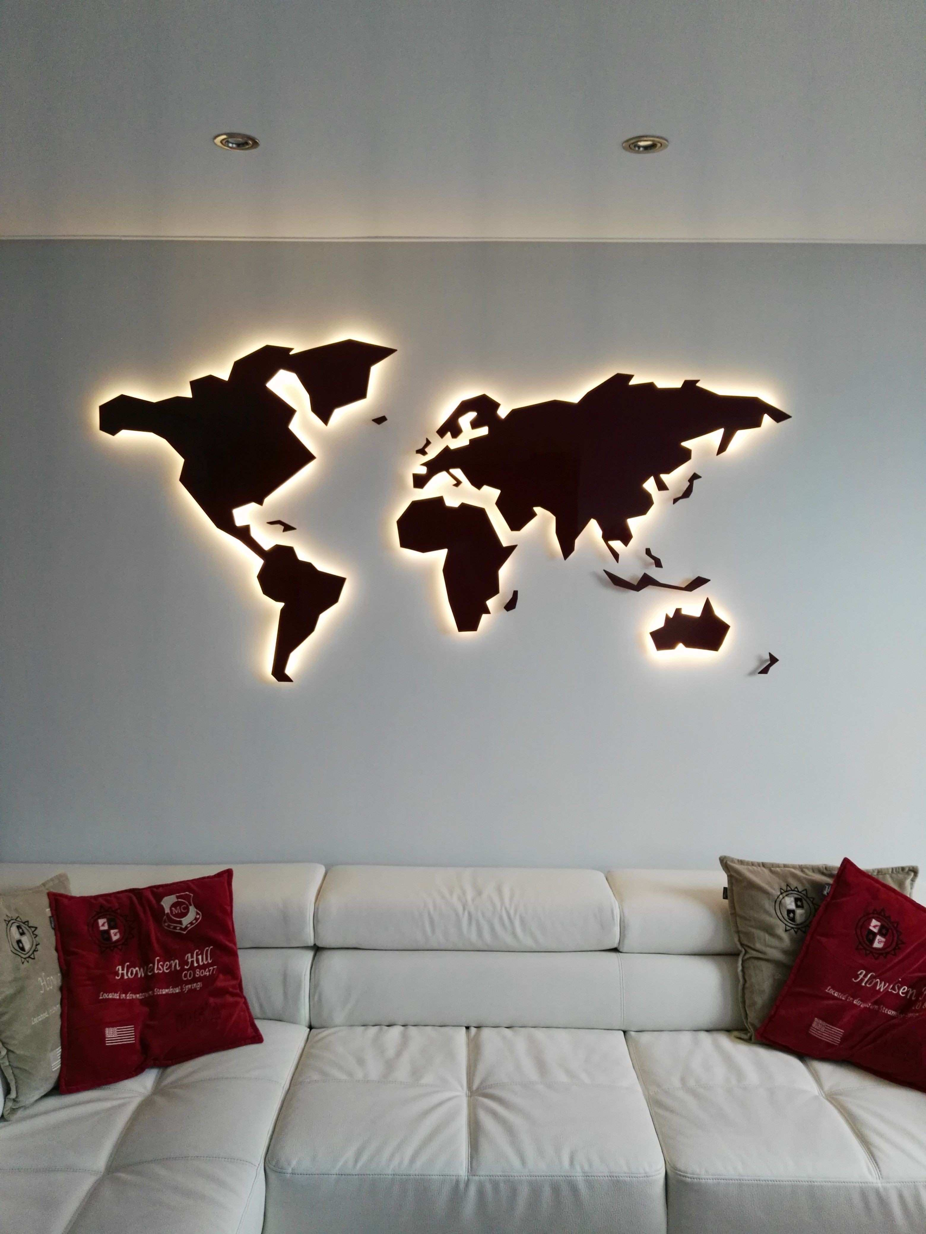 World map for wall art inspirational wall art in steel for Best art galleries in the world