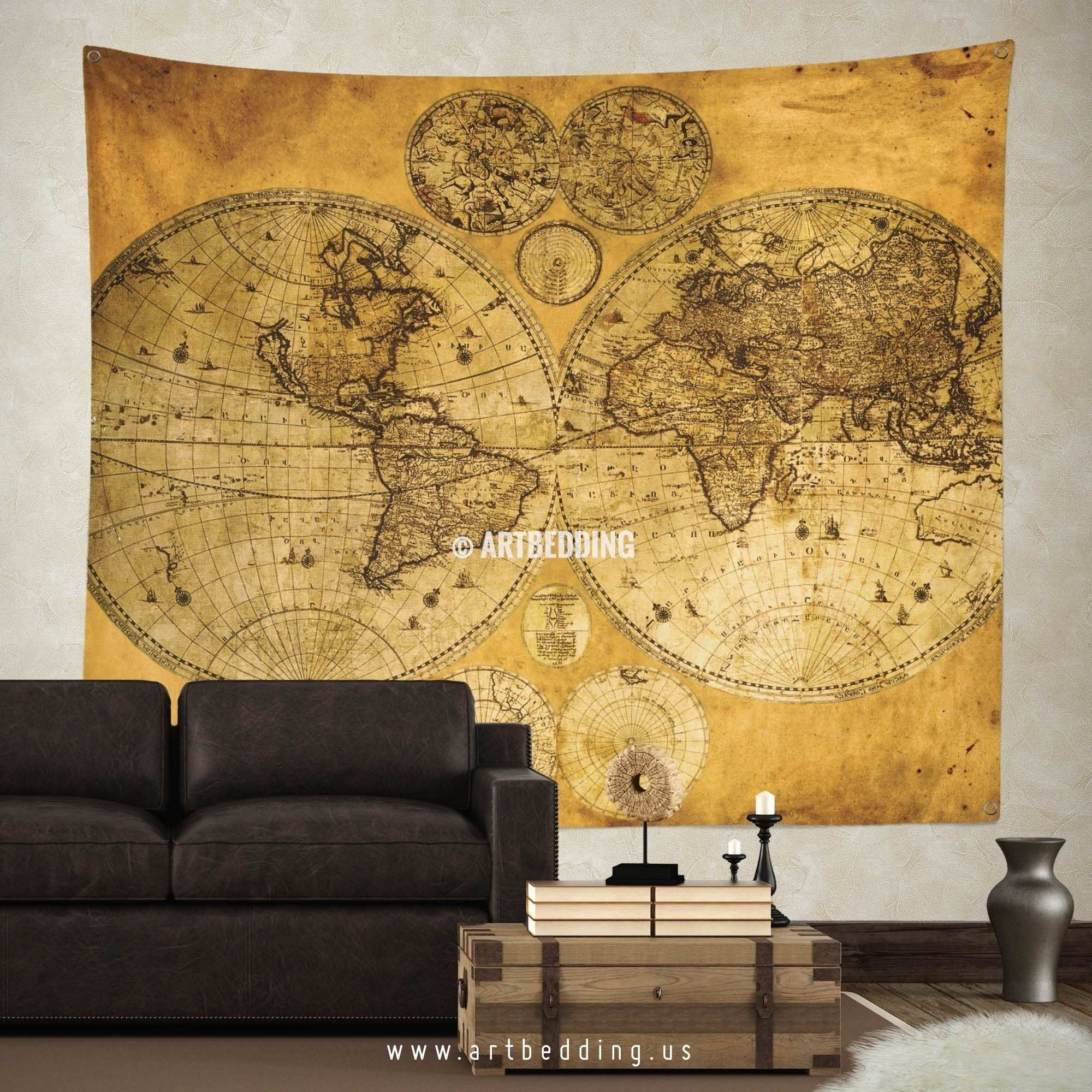 World Map for Wall Art Lovely Exelent Old World Wall Art Picture ...