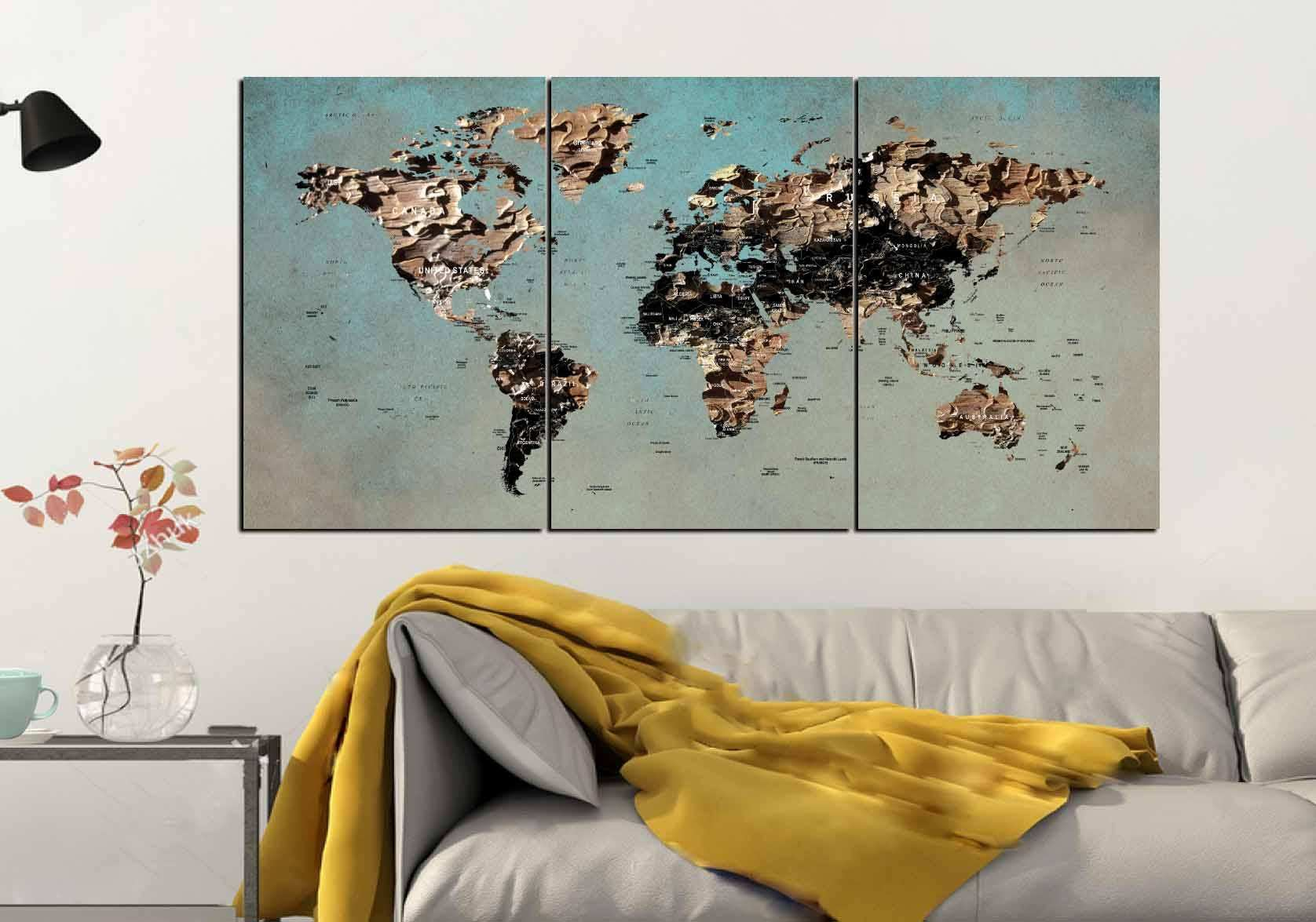 Map Of World Wall Art.Free Download Image New World Map Metal Wall Art 650 456 World Map