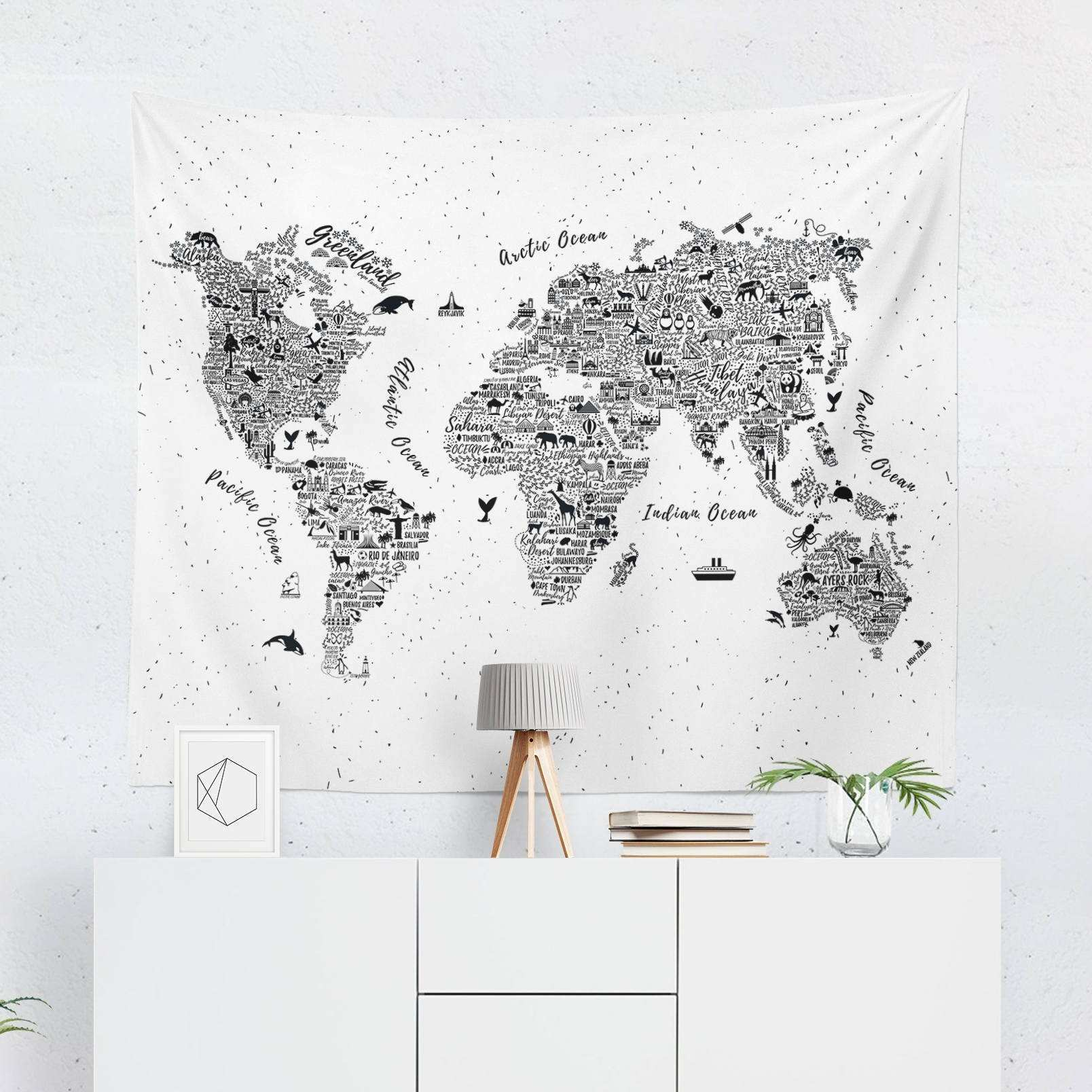 Best World Map Wall Decor Malaysia Topbookings map of decor