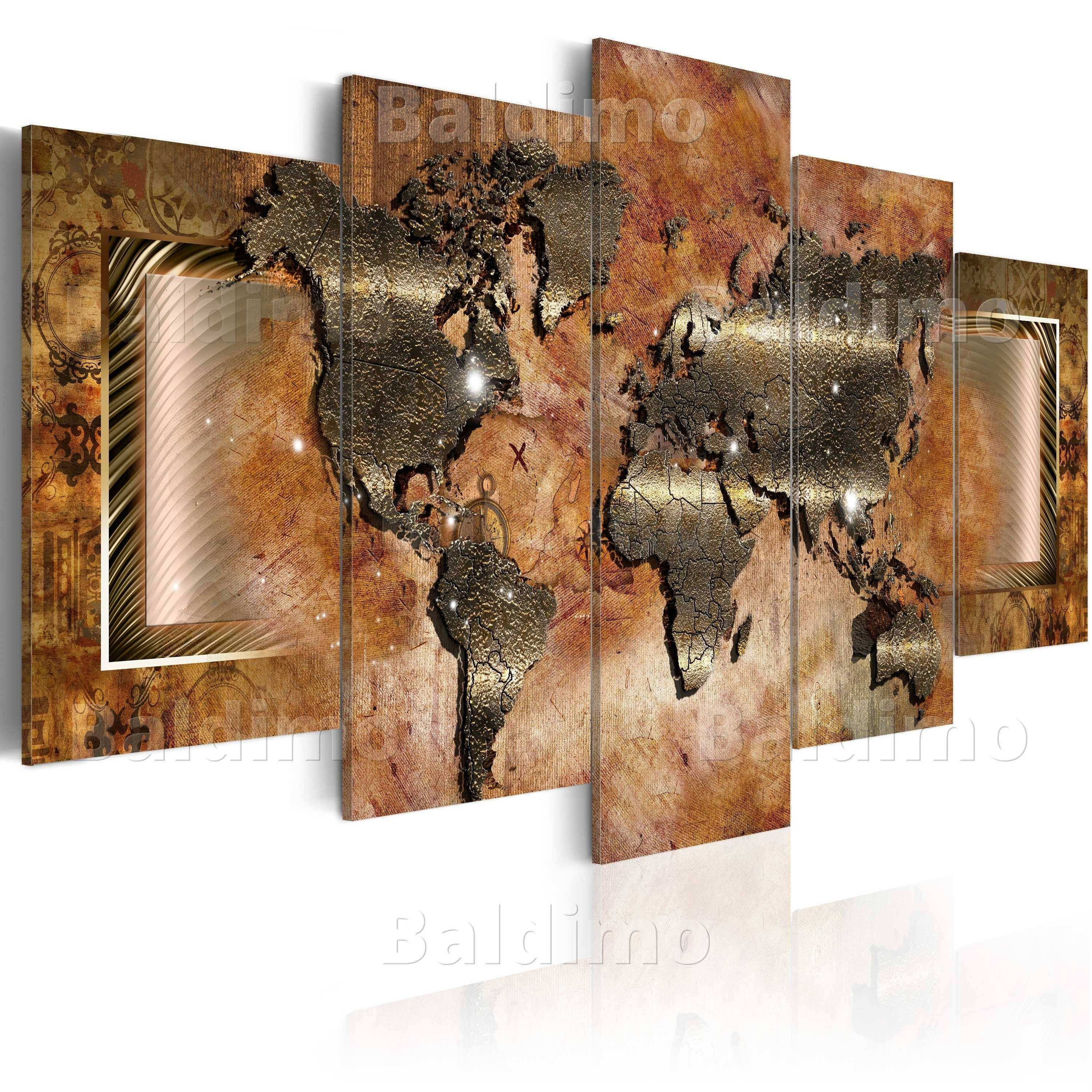 s of World Map Wall Art Canvas Showing 3 of 20 s