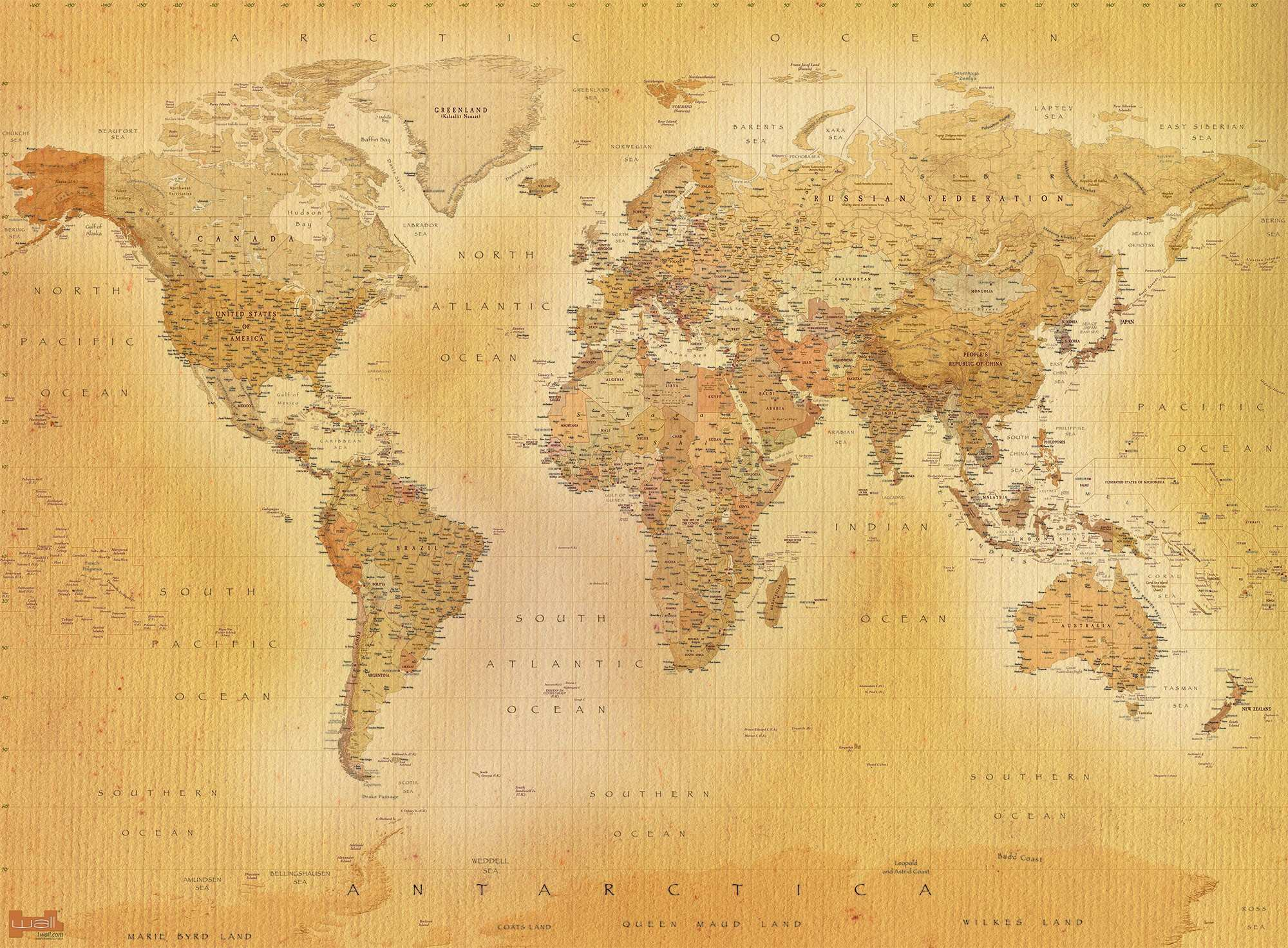 World Map Wall Print Luxury Old World Map Poster Vintage Old Maps ...