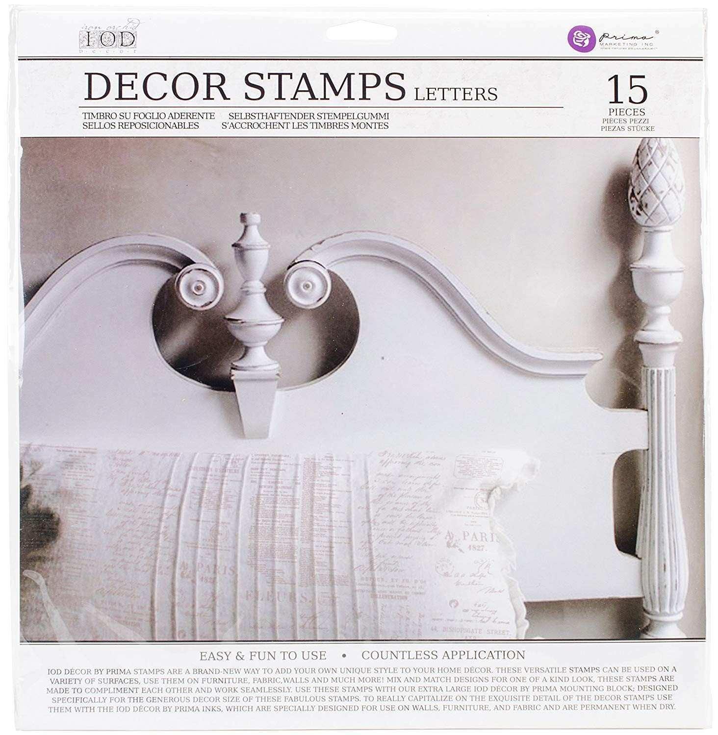 "Amazon Prima Marketing Iod Decor Stamps ""Letters"""