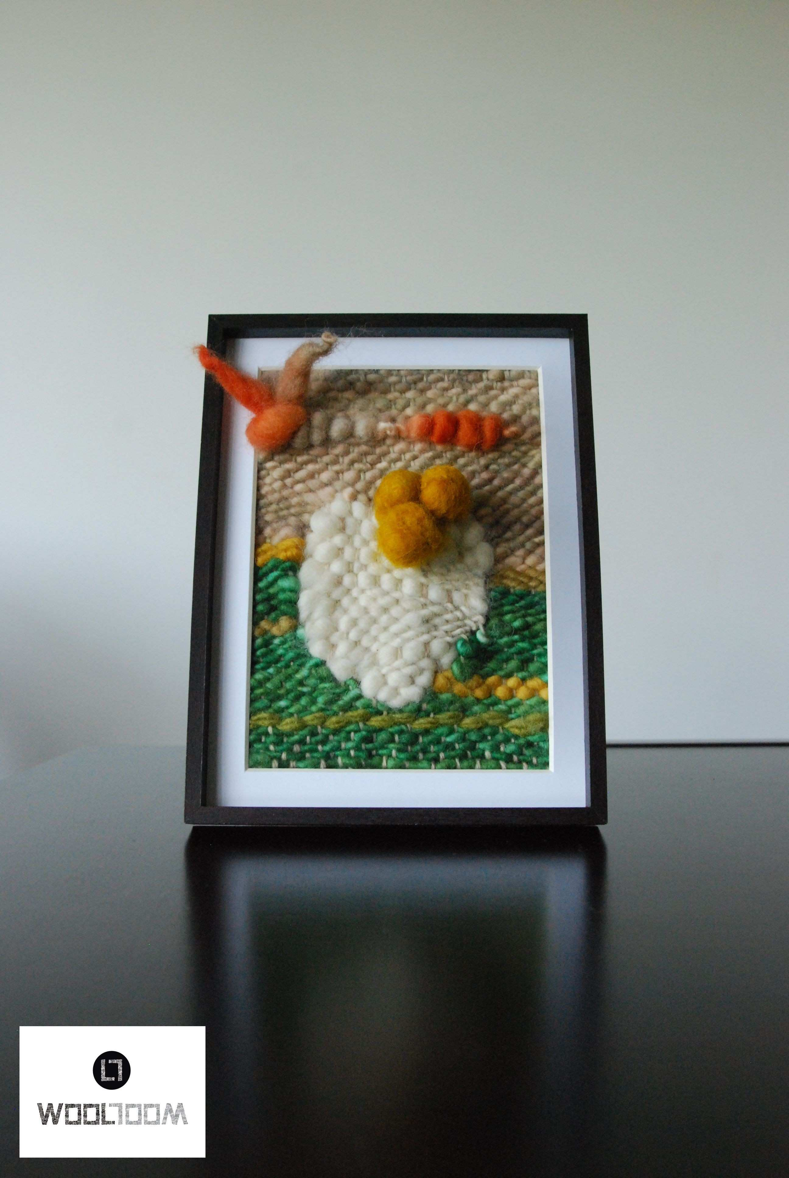 Easter Pascua Hand woven wall hanging weaving telar