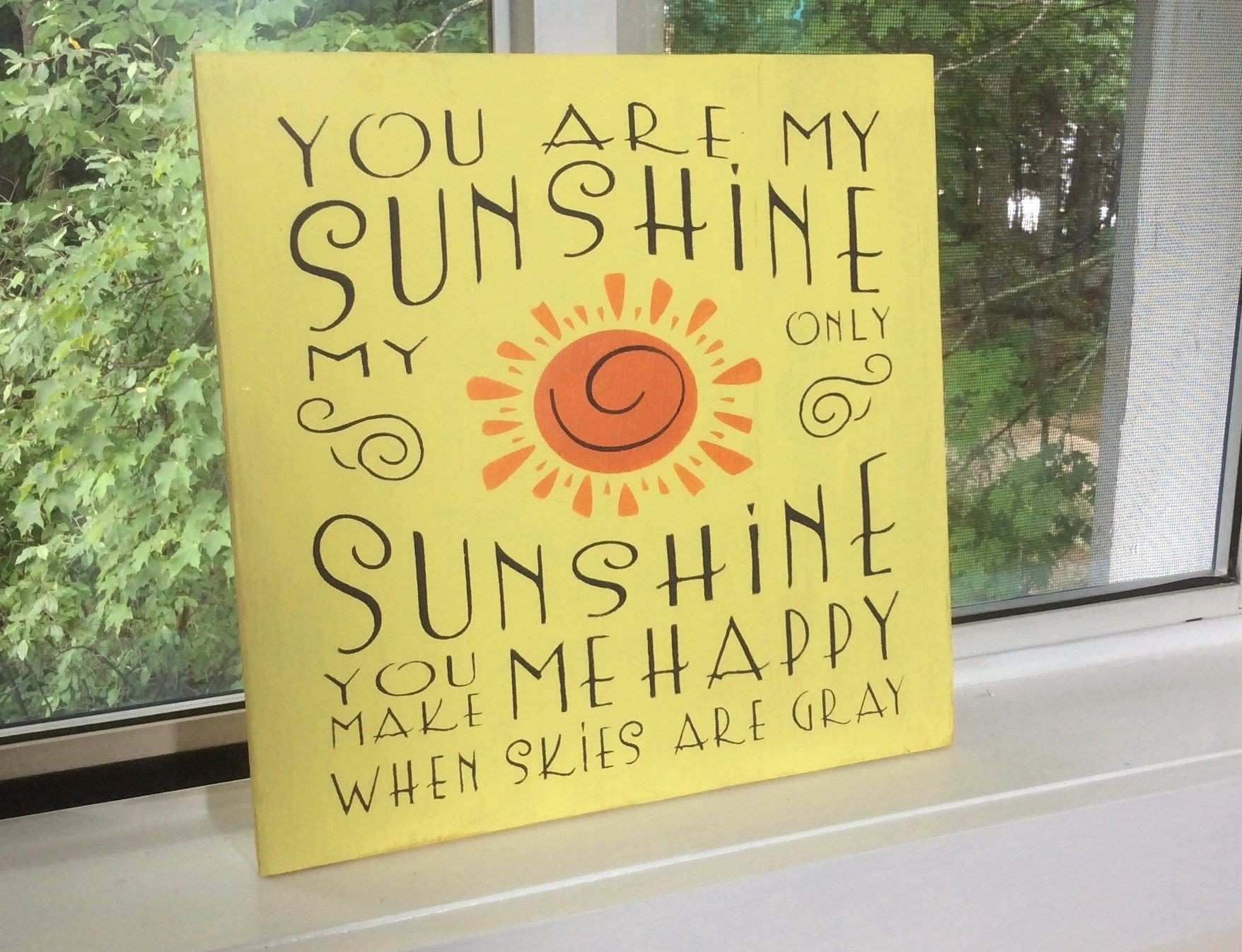 You are My Sunshine Wooden Wall Art Elegant You are My Sunshine Wood ...