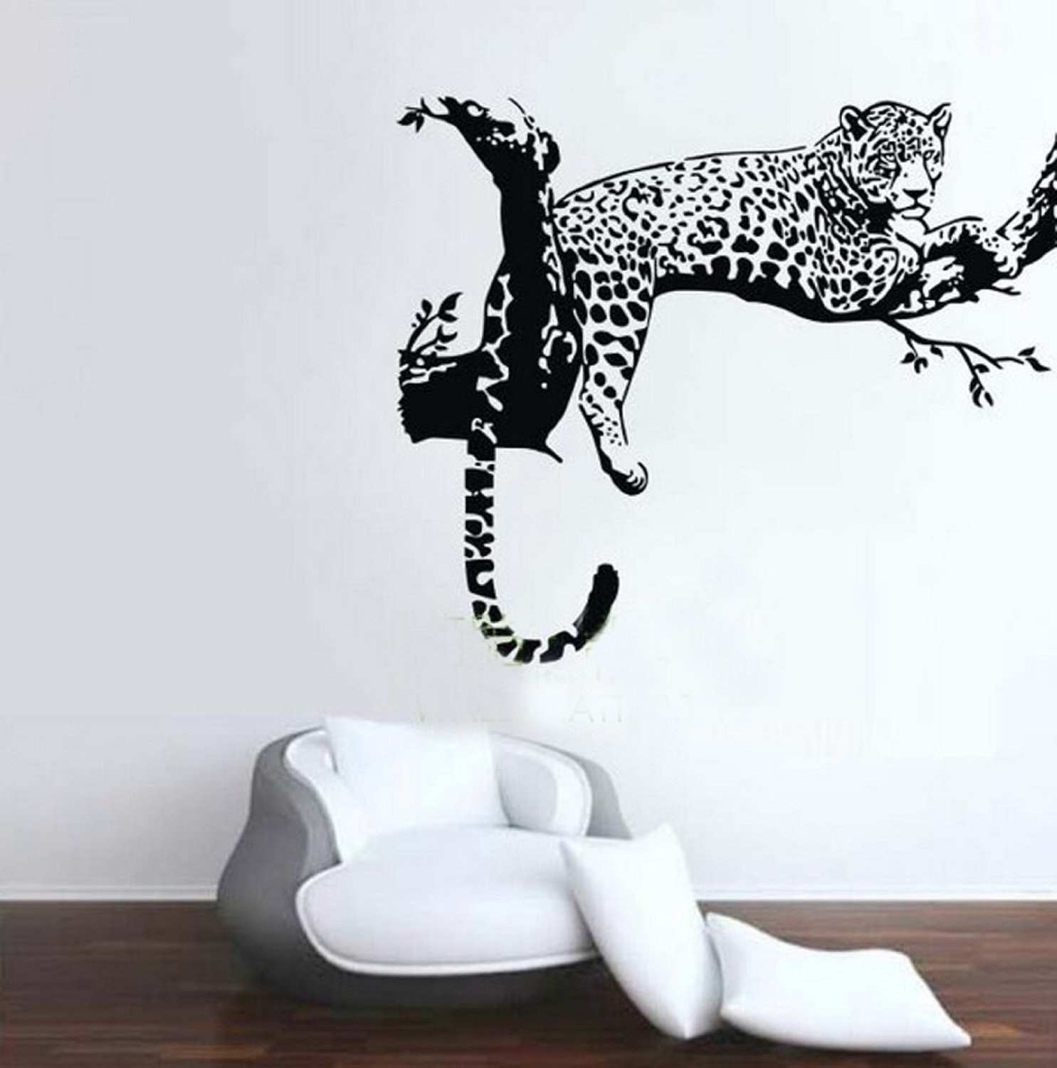 Animal Wild Zoo Leopards Cheetahs Tail Wall Decal Sticker Living