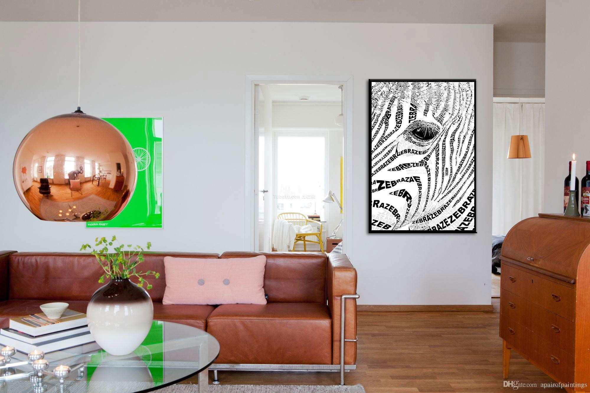line Cheap Nordic Wind Home Decorative Painting Zebra Wall Art