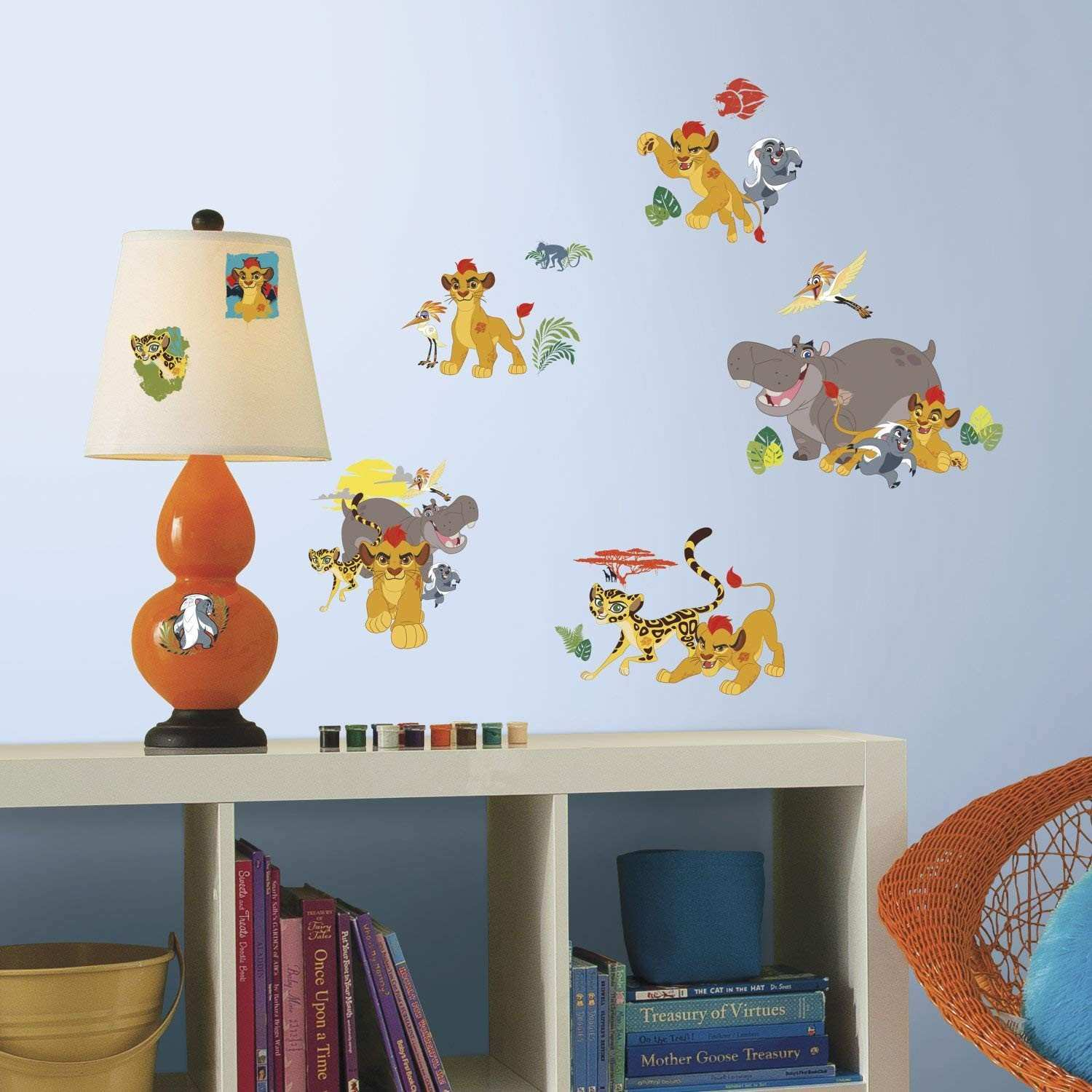 RoomMates RMK3174SCS Lion Guard Peel and Stick Wall Decals