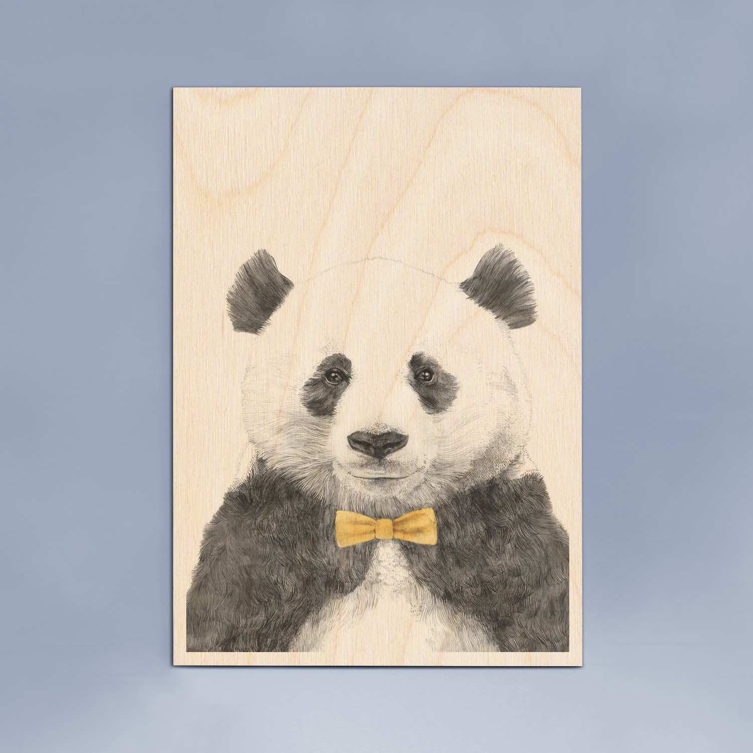 Panda Bow Tie Wooden Timbergram Wall Art Wooden Postcards and Gifts